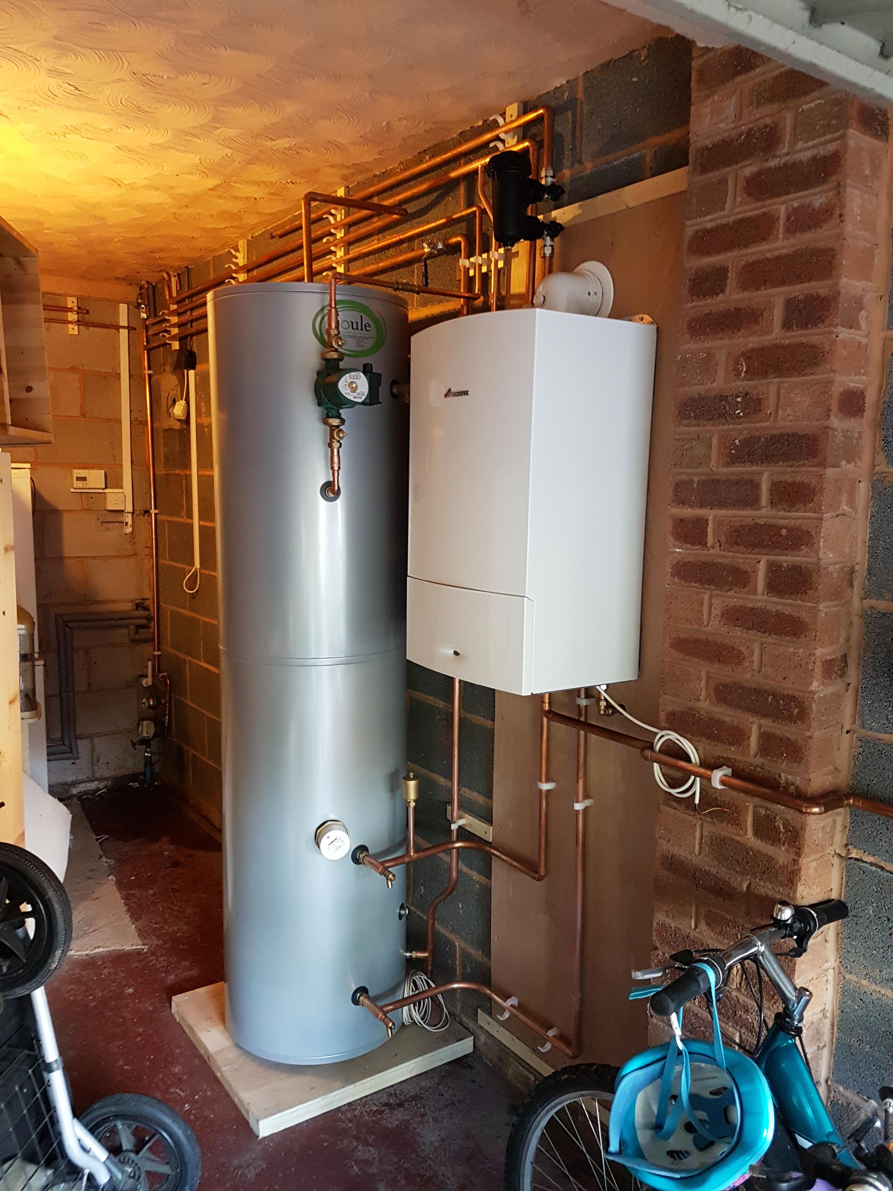 Central Heating Boiler  U0026 Unvented Cylinder